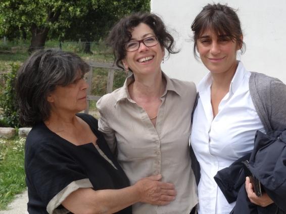 Cristiana et sa maman Jolanda s'assurent, avant notre départ, que nous avons été bien nourris... Mille mercis à elles pour leur accueil !